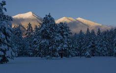 winter in flagstaff az - Bing Images/San Francisco Peaks