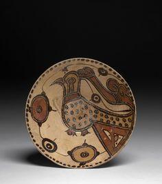 Coupe à l'oiseau, Sari, art samanide, 10e-11e siècle