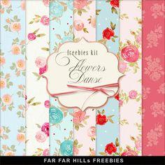 FREE New Freebies Kit of Paper - Flowers Danse:Far Far Hill - Free database of…