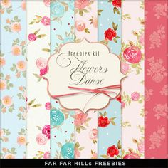 Far Far Hill - Free database of digital illustrations and papers: New Freebies Kit of Paper - Flowers Danse