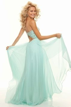 Prom Dresses 2013 A Line Sweetheart Chiffon Floor Length Open Back for sale, buy affordable prom evening party gowns at best online dress store. For any size, we can customize for you.