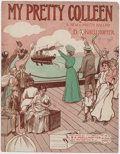 """""""My Pretty Colleen"""" 1907 #sheetmusic #irish"""