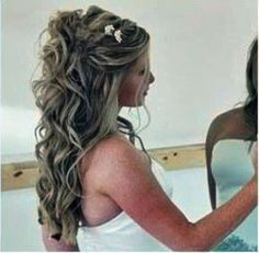 prom hairstyles for long hair down curly 2014
