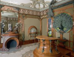 Art Nouveau interior designed by Alphonse Marie Mucha in 1900 for the Parisian jeweller, Georges Fouquet.