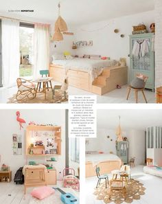 Kids Room with Natural Materials - Petit & Small Kids Room with Natural Materials – Petit & Small Baby Bedroom, Home Bedroom, Girls Bedroom, Bedroom Ideas, Casa Kids, Pastel Room, Big Girl Rooms, House And Home Magazine, Kid Spaces