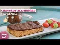 Receta de crema de ALGARROBA Y AVELLANAS 😍 ¡nutella saludable SIN CHOCOLATE! - YouTube