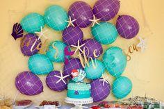 Mermaid Birthday Banner, Under the Sea Banner, Ocean Garland Mermaid Birthday Banner, Under the Sea Banner, Ocean Garland Diy Mermaid Birthday Party, Mermaid Birthday Decorations, Little Mermaid Birthday, Barbie Birthday, 6th Birthday Parties, 1st Birthday Girls, Birthday Ideas, Barbie Party, Glitter Cardstock