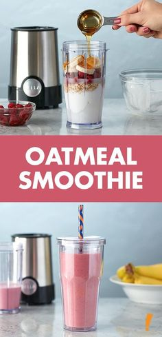 Fuel your morning with this delicious and refreshing berry oatmeal smoothie!