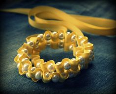 ribbon pearl -would make cute bracelet