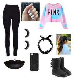 """""""Pink"""" by queenofrose ❤ liked on Polyvore featuring Chicnova Fashion, UGG Australia, BaubleBar, women's clothing, women's fashion, women, female, woman, misses and juniors"""