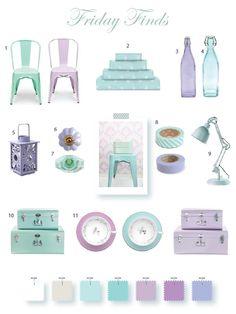 Mint and lilac colour scheme
