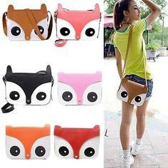 Women Cute Fox Owl Satchel Messenger Shoulder Bag Girls Handbag Cross Body Purse