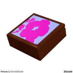 Petunia Gift Box  Available on more products! Type in the name of the design in the search bar on my Zazzle Products Page. Thanks for looking!  #flower #floral #abstract #art #zazzle #buy #sale #pattern #print #all #over #pink #blue #nature #planet #earth #gift #box #idea #home #decor
