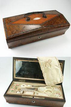 Palais Royal Sewing Box, C.1810, Complete