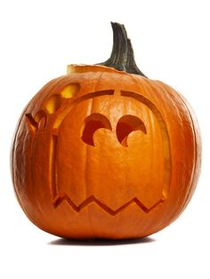 1980s throwback! We love this Pac-Man ghost jack-o'-lantern from #FNMag.