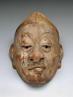 800-year-old Heian-era bugaku mask.  Japan The Museum of Fine Arts, Boston
