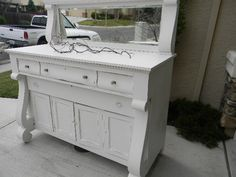 Sold!!!   STUNNING!!  Vintage Buffet Vintage Buffet, Buffets, Chalk Paint, Vintage Furniture, Shabby, Antiques, Storage, Hair, Painting
