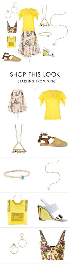 """yellow polo"" by ramakumari ❤ liked on Polyvore featuring Sacai, Etro, ZoÃ« Chicco, Noor Fares, Toga, Monique Lhuillier, EF Collection, RED Valentino, summerstyle and fashionable"