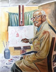 Liso Pemba, Portrait of my Grandfather African Artwork, African Paintings, Sculptures, Old Things, Portraits, Gallery, Roof Rack, Sculpture, Sculpting