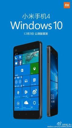 Windows 10 Mobile ROM for Xiaomi Mi 4