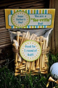 Free Father's Day Printables for a golfer