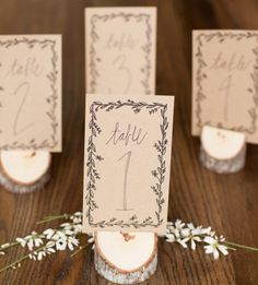Numbers For Tables At A Wedding Reception