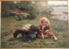 Fredrik Ahlstedt (1839-1901) A Little Bit of Humor 1889 - Finland