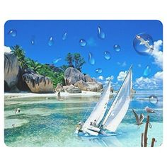 Beautiful and Seychelles Islands Design Rectangular Mouse pad - Brought to you by Avarsha.com