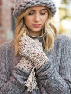 Speckle Knit Glove