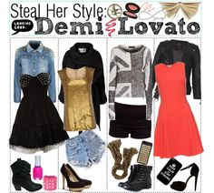 """""""Steal Her Style: Demi Lovato"""" by tipsforthefuture ❤ liked on Polyvore"""