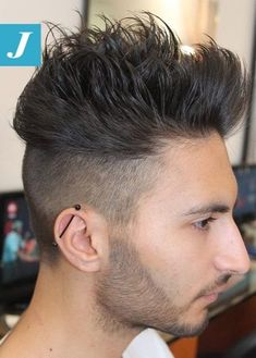 Spiky shaved sides hairstyle for men