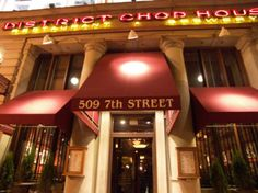 washington dc ~ district chop house