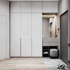 Bedroom Cupboard Designs, Bedroom Closet Design, Bedroom Furniture Design, Hallway Furniture, Wardrobe Interior Design, Wardrobe Door Designs, Home Interior Design, Small Room Design, Home Room Design