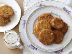 Fried green tomatoes with buttermilk dipping sauce from The Neely's