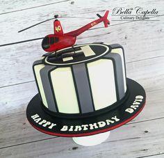 Helicopter Cake by cake artist Jennifer Beckham at Bella Capella Culinary Delights in Queenslands Central Highlands. Contact: bellacapella@bigpond.com www.facebook.com/BellaCapellaCulinaryDelights