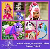 Horses Ponies. & Unicorn Complete E-book - 8  Crochet Patterns. ( My little pony) by Shannon of Family Traditions Crafts
