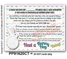 PP91620CT -*wp- Invite to do Bunny Hop TEXT POSTCARDS - 24