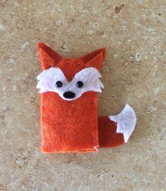 Fox Felt Finger Puppet by SugarCubesShop on Etsy