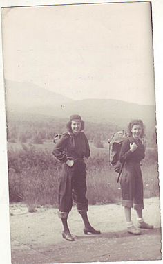The clothing may have changed just a bit, but not the spunk and spirit of female hikers!  #Vintage #Hiking