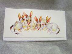Australian Greater Bilby Picture Greeting Card. Blank Inside. Lynn Naismith Art