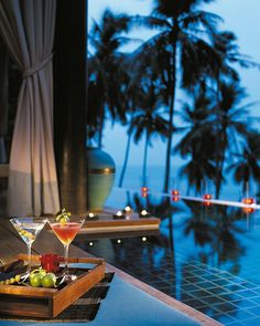 @Four Seasons Resort Koh Samui, Thailand villas' chic, al fresco living space comes complete with a private infinity pool and astonishing panoramas of Laem Yai Bay, Koh Phangan and the Gulf of Siam.