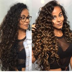 63 stunning examples of brown ombre hair - Hairstyles Trends Highlights Curly Hair, Ombre Curly Hair, Colored Curly Hair, Short Curly Hair, Curly Hair Styles, Curly Balayage Hair, Light Curls, Ombré Hair, Dark Hair