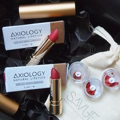ax·i·ol·o·gy, the philosophical study of two kinds of values: ethics and aesthetics.  #axiology #vegan #lipstick #savue #savuebeauty #blackfriday #haul #veganbeauty #cosmetics #greenbeauty #bblogger #allnatural #luxury #redlips #natural #organic #beauty #crueltyfree #makeup #naturkosmetik
