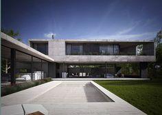 Amado Cattaneo Arquitectos - Casa estilo actual racionalista / Arquitecto - PortaldeArquitectos.com Modern Villa Design, Modern Contemporary Homes, Residential Architecture, Interior Architecture, Concrete Houses, Exterior Design, Home Fashion, Luxury Homes, New Homes