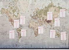 Map of Gulf Islands:  Table Arrangements
