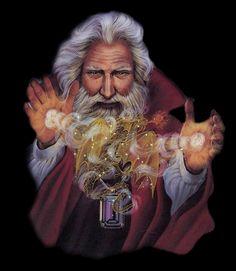 Animated Gif by JoanBlalock Fantasy Wizard, Fantasy Male, Fantasy World, Gandalf, Yule, Magia Elemental, Male Witch, Dragon Warrior, Celtic Dragon