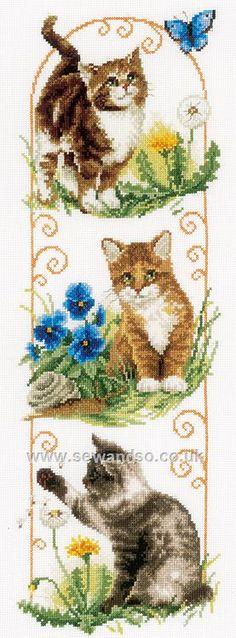 Buy Cats Exploring Cross Stitch Kit online at sewandso.co.uk