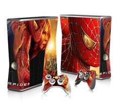 SpiderMan Xbox 360 Skin for Xbox 360 slim Console and Controllers Xbox One Skin, Xbox 360 Console, Console Styling, Ps4 Skins, New Video Games, Latest Games, Men Design, Video Game Console, Games To Play
