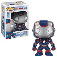 You like Iron Man's Iron Patriot? Like Pop! How about Bobble Heads? If the answer is yes, go ahead and get your money out for the Iron Man 3 Funko Pop Marvel, Marvel Pop Vinyl, Marvel E Dc, Lego Marvel, Marvel Avengers, Funko Pop Toys, Funko Pop Vinyl, Funko Pop Figures, Pop Vinyl Figures