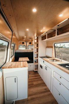 Van Conversion Interior, Camper Van Conversion Diy, Campervan Interior, Rv Interior, Camper Interior Design, Motorhome, Build A Camper Van, Vanz, Caravan Renovation